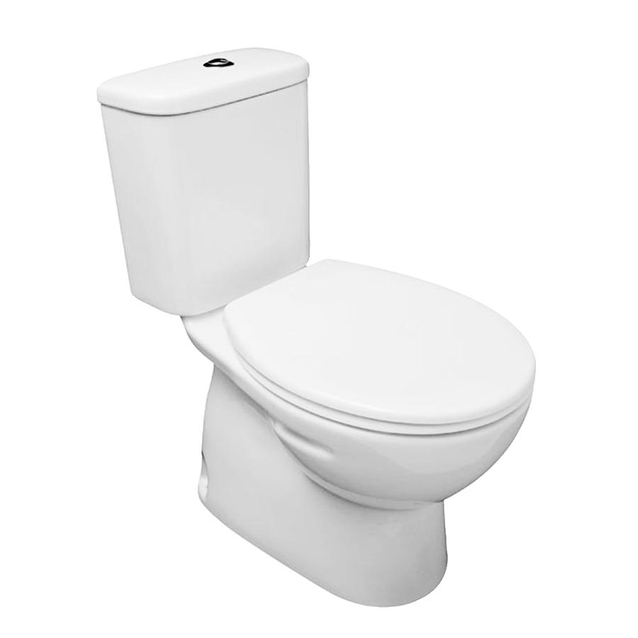 closed couple toilet white